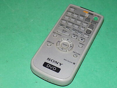 SONY DVD SYSTEM Remote Control Unit Official RMT-D137P