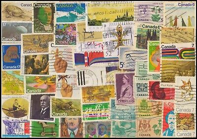 CANADA 200 All Different, Used Stamps, Large & Small