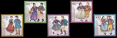 GERMANY 1993-Traditional Costumes-Humanitarian Relief Fund, Set of 5, MNH