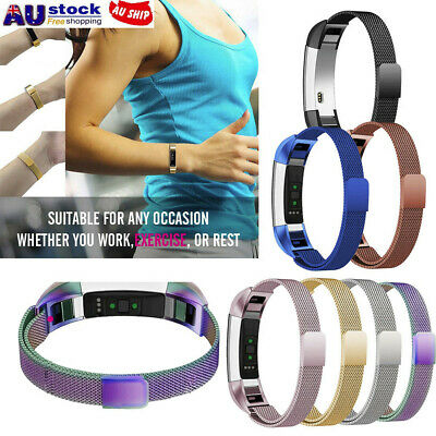 Milanese Magnetic Tainless Steel Watch Band Wrist strap For Fitbit Alta HR AU!!
