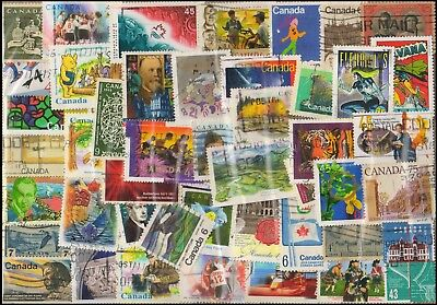 CANADA 300 All Different, Used Stamps, Large & Small