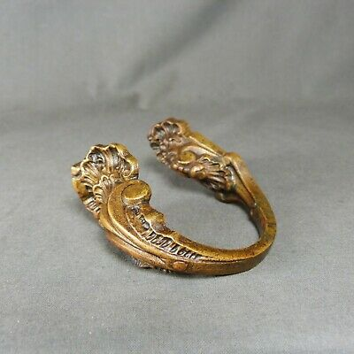 Antique French Louis XV Style Ormulu Curtain Tiebacks Ornate Bronze