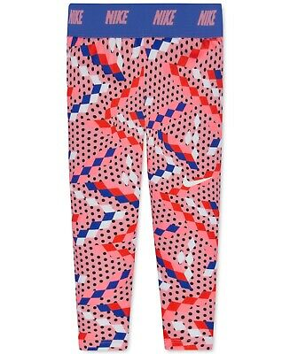 NİKE Dri-fit Geo-Print Capri Leggings Toddler & Little Girls (Bright Melon, 5)
