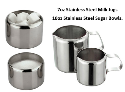 Stainless Steel Sugar and Milk Jugs Cafe Restaurant/Canteen / Work/ Hospitality