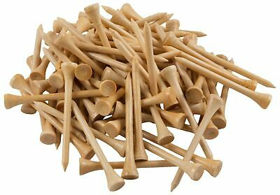 """New 1000 Bamboo Golf Tees 7x Stronger than Wood 2-3/4"""" Height- Eco-Friendly"""