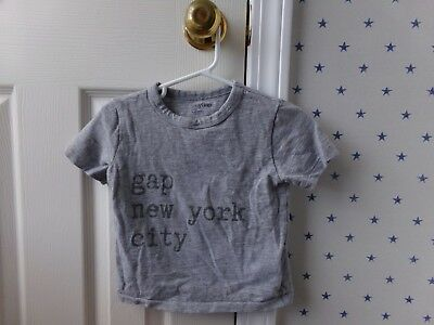 Boys or Girls Baby GAP NEW YORK CITY Cool Gray Tee T-Shirt Size 18-24 Months