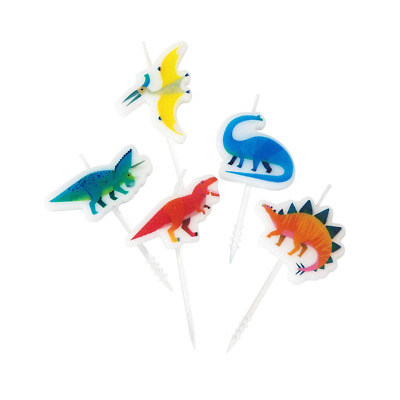Dinosaur Candles pack of 5