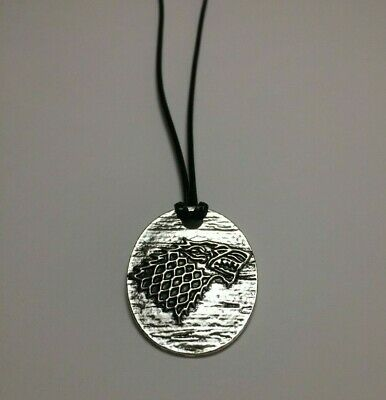 Game of Thrones Vintage Jewellery House Stark Direwolf Pendant Necklace Silver