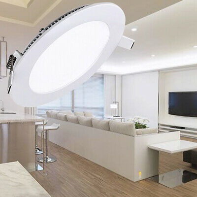 Ceiling Led Panel Lights Dimmable Flat Downlights Recessed Lamp Bulbs 3W 9W 12W