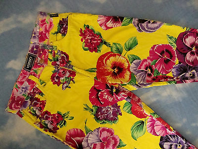 TROUSERS vintage VERSACE Jeans Couture made in Italy TG 27-41 circa XS-S