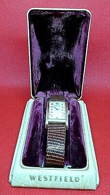 1937 Westfield Windsor (Bulova) Art Deco Style Watch--17Jewel - Keeps good time!