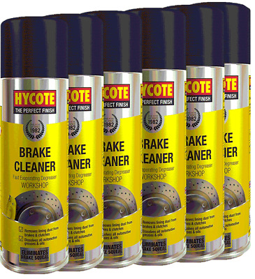 6 X Hycote Brake Part Cleaner Spray Can Aerosol High Quality Clean 600ml