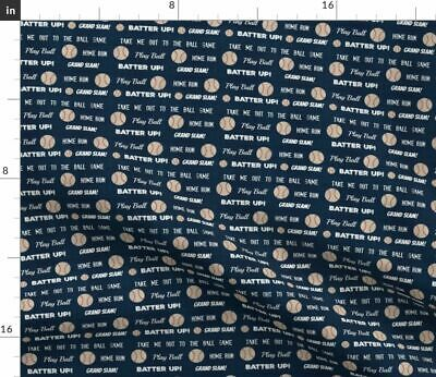 Sports Balls Outdoor Sport Team Baby Boy Fabric Printed by Spoonflower BTY