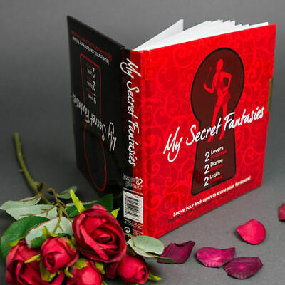 LOCKED DIARY HIS HERS 2 Diaries MY SECRET FANTASIES Couples Sex Love Gift
