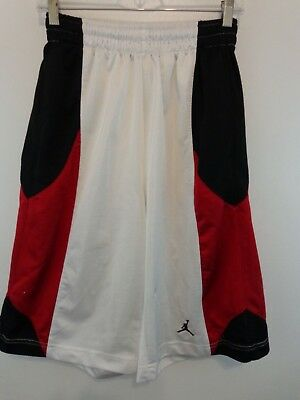 7b70bd91350897 NIKE AIR JORDAN Men Basketball Athletic Shorts Sz Small Red Black White