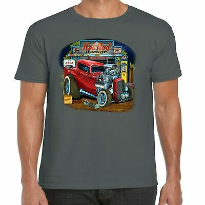 0cda9a4a2 Mens Hotrod 58 Hot Rat Rod T-Shirt American Custom Classic Street Car Garage  111