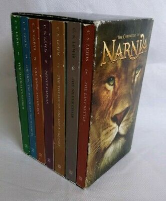 The Chronicles of Narnia Paperback Book Boxed Set C. S. Lewis Books Bundle 1 - 7