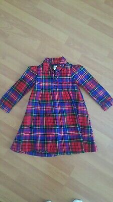 Baby Gap Girls Plaid Long Sleeve Dress Red Green Blue Button Front 5 Yrs EUC