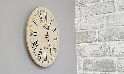 Simple Wooden Natural Wall Clock, 20Cm.