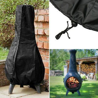 Large BBQ Chimnea Chiminea Waterproof Rain Protector Cover Outdoor Garden