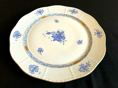 Herend Porcelain Chinese Bouquet Blue Large Round Serving Tray 157/Ab