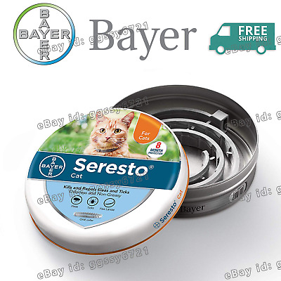 Bayer Seresto Flea and Tick Collar for Cats,8 Month Protection--Sealed Package