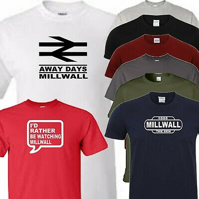 Millwall football t shirt away days rather or train sign t shirt