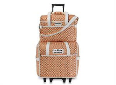Brother SASEBQ Orange Fashion Rolling Luggage Q-Series Machines