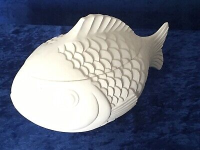 Ready To Paint Ceramic Bisque Covered Fish Dish