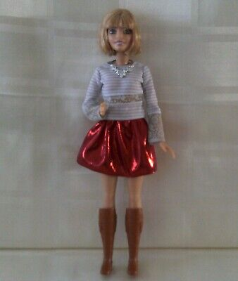 Barbie fashionista doll #23 petite red skirt