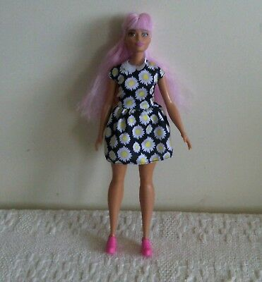 Barbie fashion doll # 48 daisy dress pink hair
