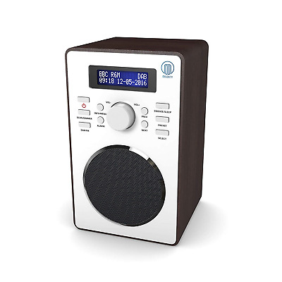 Majority Barton II Retro DAB/DAB+ Digital FM Upright Radio/Alarm Clock/Wood