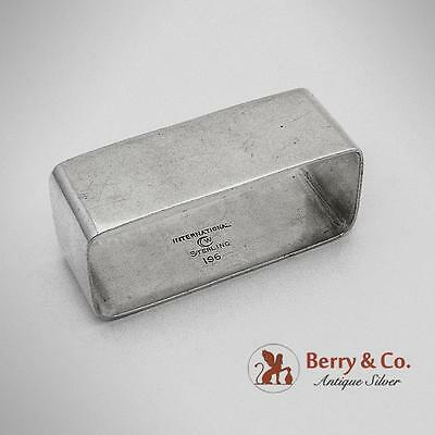 Arts And Crafts Rectangular Oval Napkin Ring Sterling Silver International 1920