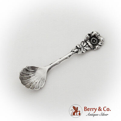 NEW FLOWER SHELL DESIGN STERLING SILVER SALT SPOON LAST ONES!!