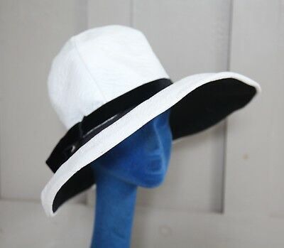 Great Condition Vintage 1960's Mr. Ken Hat-White Leather and Black Velvet