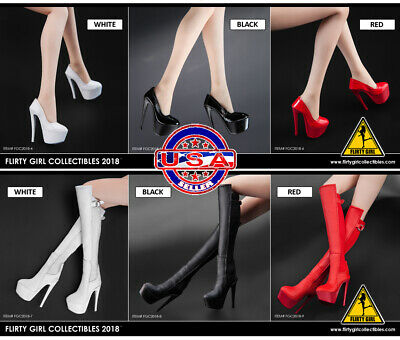 1/6 Scale Flirty Girl FGC2018 Female Boots or Stiletto shoes JIAOUDOL Phicen TBL