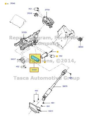 Lincoln Ford Oem 09 12 Mks Steering Column Ca5z3c529a