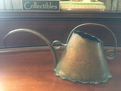 ANTIQUE/VINTAGE~Crescent Hammered~COPPER PITCHER~Patina~As Found