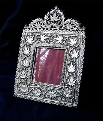 Anglo-Indian Kutch Silver Photo Frame