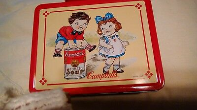 Antique Campbell's Tomato Soup 1998 Vintage Collectible Metal Lunch Box Red Used