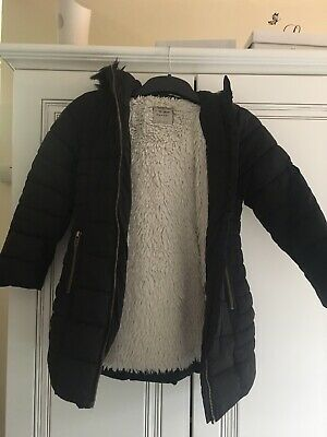 Girls Next Padded Fur Lined Hooded Coat 6yrs