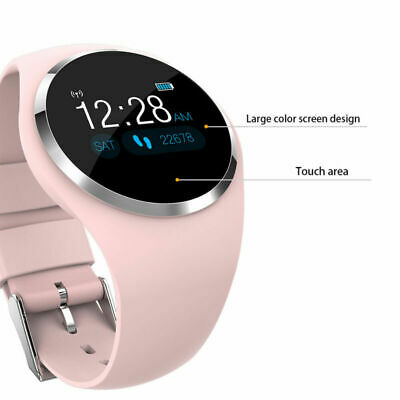 Mujer IOS Android Smartwatch Reloj inteligente Impermeable Deporte fitness Rosa