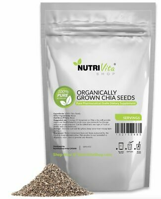 100% PURE BLACK CHIA SEEDS VEGAN GLUTAN-FREE nonGMO GROWN ORGANIC USA KOSHER