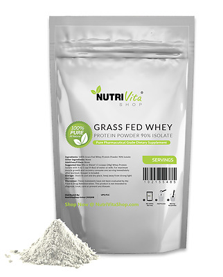 2X 5LB (10LB) 100% Pure Whey Protein Isolate 90% Grass Fed USDA (Unflavored)