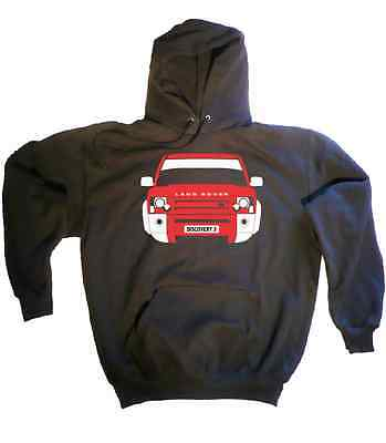 CUSTOM HTees hoody: LAND ROVER DISCOVERY 3, Pick car colour & plate, S-XXL