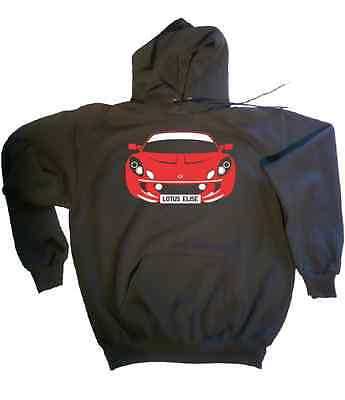CUSTOM HTees hoody: LOTUS ELISE S1 and S2, Pick car colour & plate, Sizes S-XXL