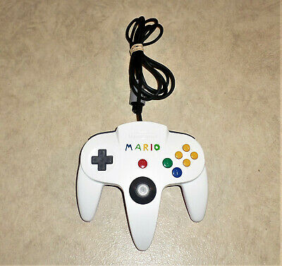 Official Nintendo 64 N64 Controller Custom Painted WHITE / RED MARIO Theme!!!