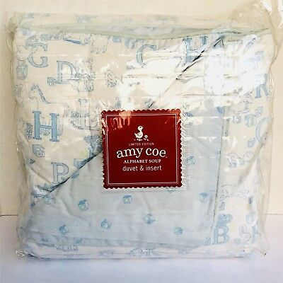 Amy Coe Limited Edition Alphabet Soup Baby Crib Bedding Duvet Cover And Insert