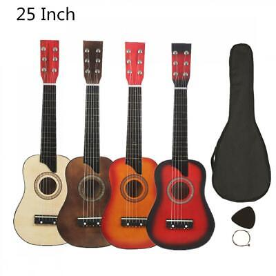25 Inch Basswood Children Beginners Acoustic Guitar w/ Case, String & Pick