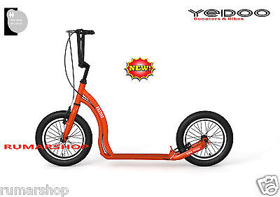 YEDOO ALLOY SCOOTER ROLLER STEP NEW NEU MODEL FRIDAY 16/16 red